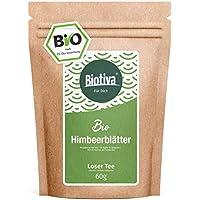 té de hojas de frambuesa Orgánico (60 g) - Cuidado prenatal - Embarazo - hojas muy grandes - suficiente para 40 tazas - recomendado por comadronas - Embotellada y controlado en Alemania (DE-ÖKO-005)