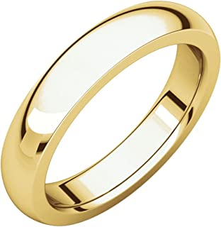 FB Jewels 22K Yellow Gold 4mm Heavy Comfort Fit Mens Wedding Ring Band