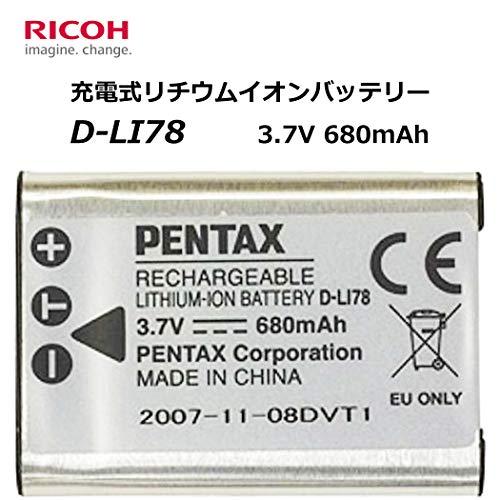 『PENTAX D-LI78 充電式リチウムイオンバッテリー リチャージャブルバッテリー リコー メーカー純正品 【対応機種】Optio M50/M60/W60/V20/W80/S1用 39740』の1枚目の画像