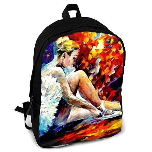 Homebe Rucksäcke,Daypack,Schulrucksack Ballet Dancer Colorful Art Fashion Printing Adult Backpack Travel Hiking Knapsack