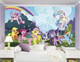 RoomMates My Little Pony Ponyville  Removable Wall Mural - 10.5 feet X 6 feet