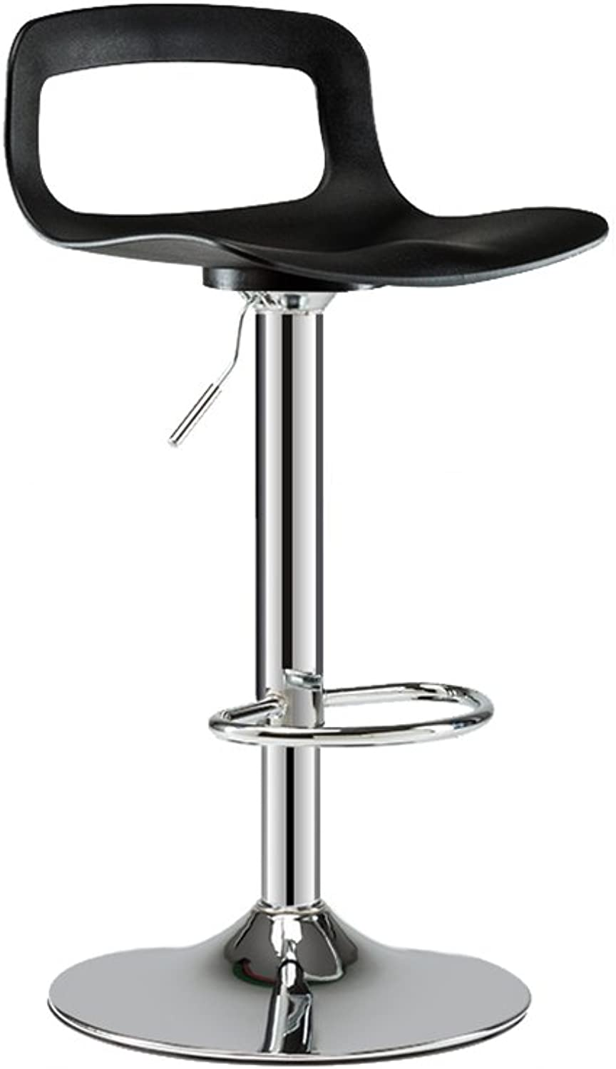 ZfgG Bar Stool Chair, 360 Degree Adjustable redating Plated Backrest Office Bar Stool Bar Chair Height 120cm,Applicable bar Restaurant Counter (color   B)