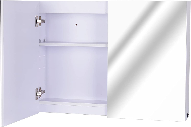 HOMCOM LED Spiegelschrank Lichtspiegel Badspiegel Badschrank Badezimmerspiegel Wandspiegel 15W (Modell 2)