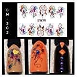 Full Sheet Dreamcatcher - Feather - Watercolor - Nail Stickers - Salon Quality Nail Art Nail Wrap Nail Decals - 1 Sheet