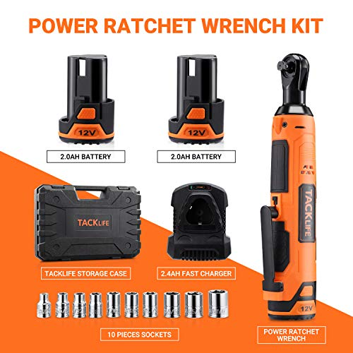 TACKLIFE Cordless Electric Ratchet Wrench 3/8