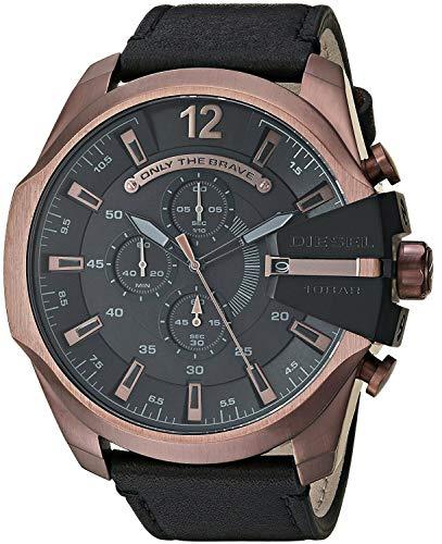 uniqui winkel Nieuwe Diesel mannen Mega Chief DZ4459 Quartz roestvrij staal en lederen chronograaf horloge met doos