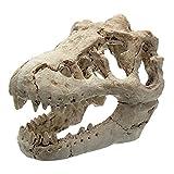 Liadance Acuario Cráneo del Dinosaurio Adorno de la Novedad del Acuario decoración de terrarios Artificial Cráneo del Dinosaurio