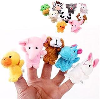 10 Unidades Marionetas de Dedo de Estilo Animal Lindo