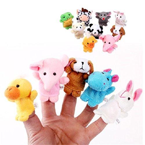 10 Unidades Marionetas de Dedo de Estilo Animal Lindo Juguete del Bebé Muñecos Soft Accesorios