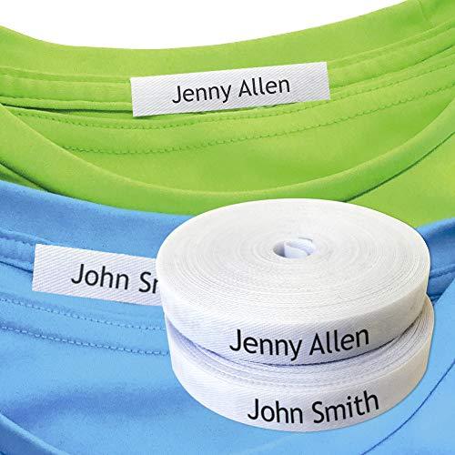 100 etiquetas personalizadas de ropa para nombres de ropa. Etiquetas de tela para planchar para marcar tu ropa. Ideal para uniforme escolar infantil, escuela infantil. Etiquetas personalizables.