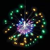 Luces LED de Fuegos Artificiales, Luces de Navidad Exterior, Cadena de Luces de Alambre 120 LED, LED a prueba de Agua Flash de Navidad Sala de Control Remoto, Jardín, Boda, Fiesta (Luces de Colores)