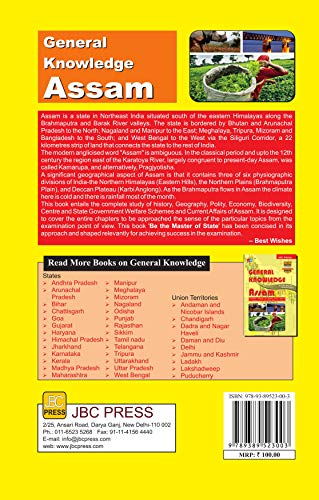 GENERAL KNOWLEDGE ASSAM:- Extremely valuable for Assam Public Service Commission (APSC) and Other State Level Exams.