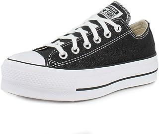 حذاء رياضي للكبار من Converse Chuck Taylor All Star Lift Glitter Ox أسود/أبيض