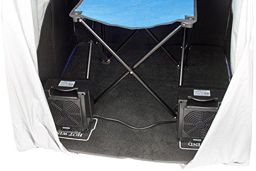 newgen medicals Mini Infrarotkabine: Tragbare Infrarot-Sauna V2 mit 2 Heizern, 1600 Watt (Mini Sauna für Balkon) - 5
