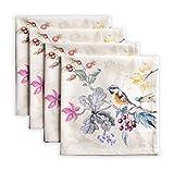 Maison d' Hermine Equinoxe 100% algodón suave y cómodo, juego de 4 servilletas perfectas para cenas familiares | Bodas | Cóctel | Cocina | Hogar | Acción de Gracias/Navidad (beige, 45 cm x 45 cm)