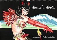 Guns `n Girls - gezeichnete Pin-Ups mit Munition (Wandkalender 2022 DIN A3 quer): Burlesque Pinup Zeichnungen mit flottem Strich - Illustrationen von Sara Horwath (Monatskalender, 14 Seiten )