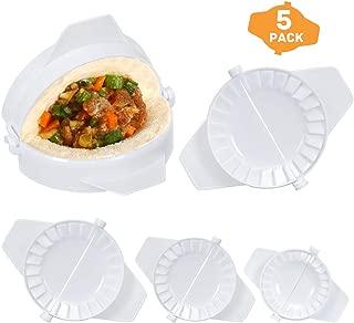 YAYOSUE 5 Pieces Dumpling Maker Dumpling Tools with Different Sizes of Dumpling Mold Cutter Pie Ravioli Empanadas Press Mold Kitchen Accessories