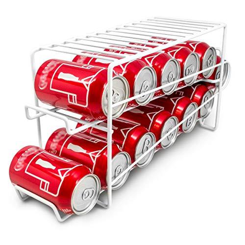 Neo® Dispensador de latas de alimentos para armario y nevera, organizador de almacenamiento