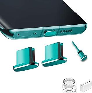VIWIEU USB Type C キャップ コネクタ防塵保護カバー、 携帯タイプc ポート充電穴端子防塵プラグ 精密アルミ製で高級感が 超耐久 3.5MMイヤホンジャック用 SIMカード取り出す 防塵 防砂 防水 タブレット/スマホ対応 (2...