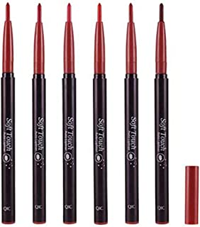 """Lip Liner Pencil Set - Retractable 6 Colors Lipliner Makeup Pencils, Matte Longwear non Feathering Lips Liners by """"wonder X"""""""