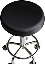 VOSAREA Round Stool Cover Printed Bar Stool Round Chair Seat Cover Slipcovers Cushion Chair Protector