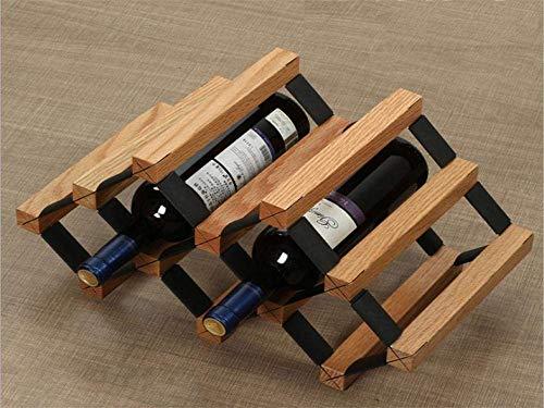 F2 Wohnzimmer Dekoration Eiche Praktische Holz Farbe Sechs Flaschen Wein Weinregal Europäischen Wein Vitrine Home Bar Home