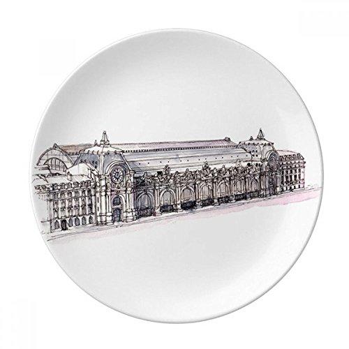 DIYthinker Musée D'Orsay à Paris France Porcelaine Décorative Assiette à Dessert 8 Pouces Dîner Accueil Cadeau 21cm Diamètre Multicolor