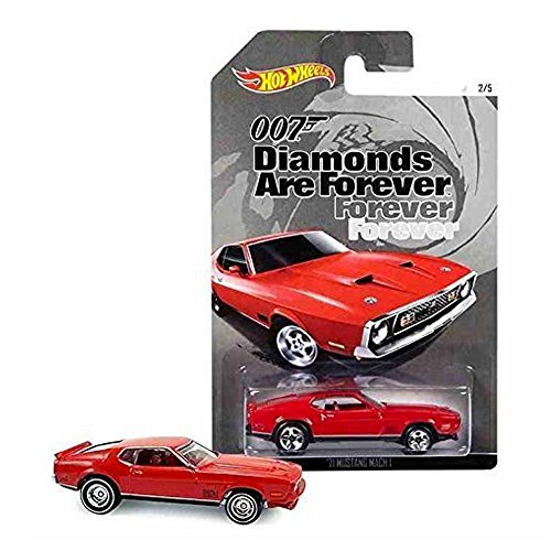HOT WHEELS 007 DIAMONDS ARE FOREVER RED \'71 MUSTANG MACH 1 2/5 by Hot Wheels