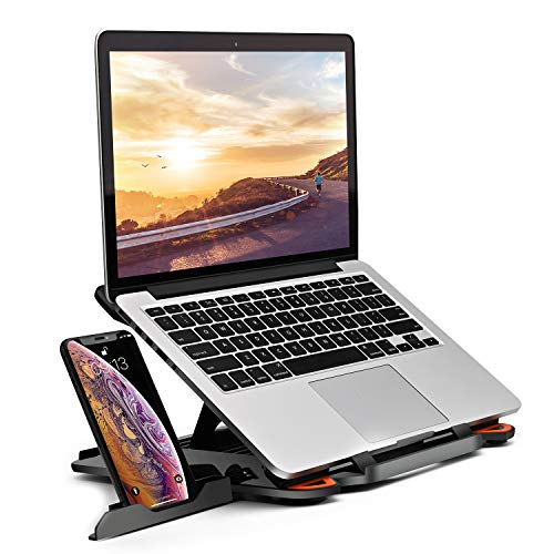 "Laptop Stand Adjustable Laptop Computer Stand Multi-Angle Stand Phone Stand Portable Foldable Laptop Riser Notebook Holder Stand Compatible for 10 to 17"" Laptops"