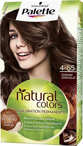Schwarzkopf - Palette Natural Colors - Coloration Permanente Cheveux - Couleur Naturelle - Cheveux nourris - Couvre 100% des Cheveux Blancs - Châtain Chocolat 4.65