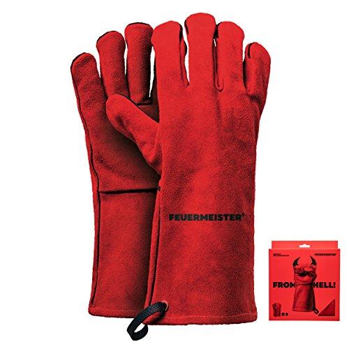 Feuermeister - Grillhandschuhe in Rot, Größe 10