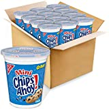 This bulk package contains 12 resealable 3.5 oz. Go-Pak cups of Mini CHIPS AHOY! Original Chocolate Chip Cookies Scrumptious CHIPS AHOY! cookies are classics. Loaded with real chocolate chips, these delectable treats have been a household favorite si...