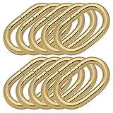 BIKICOCO - Anillo ovalado de metal de 1' con anillas ovaladas no soldadas para bolso de cuero, correas de mano, oro - Paquete de 10