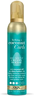 OGX Locking + Curls Decadent Creamy Mousse, Coconut 7.9 Ounce