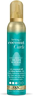 OGX Locking + Coconut Curls Decadent Creamy Mousse, 7.9 Ounce