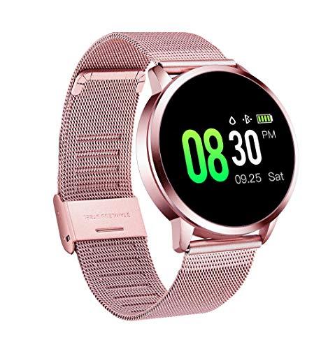 QWQW Orologio Fitness Tracker Smartwatch, Activity Tracker Impermeabile GPS Pedometro Frequenza Cardiaca Contapassi Polso Calorie Promemoria del Messaggio Compatibile con iOS Android Regalo