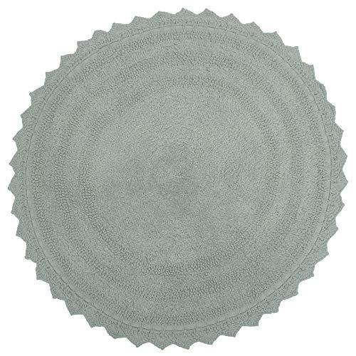 RAJRANG BRINGING RAJASTHAN naar u Ultra zachte katoenen badmat tapijt - ronde voordeur matten, douche, bad bad, WC, badkamer tapijten