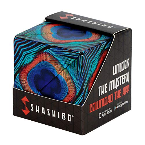 SHASHIBO - The Shape Shifting Box (36 Rare Earth Magnets) - STEM/STEAM Fidget, Geometric 3D Transforming Magnetic Box Magic Cube (Wings)