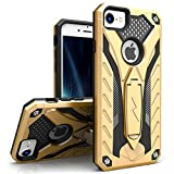 ZIZO Static Series for iPhone 8 Case Military Grade Drop Tested with Built in Kickstand iPhone 7 iPhone 6s Case Gold Black