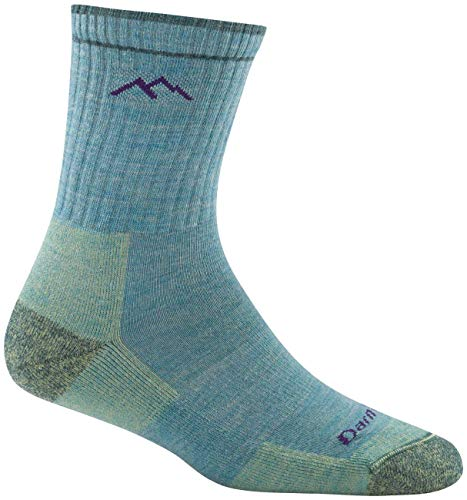 Darn Tough Hiker Micro Crew Cushion Socks - Women's Aqua Heather Medium