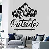 Frases de inspiración paisaje natural montaña mural vinilo pegatinas dormitorio decoración del hogar