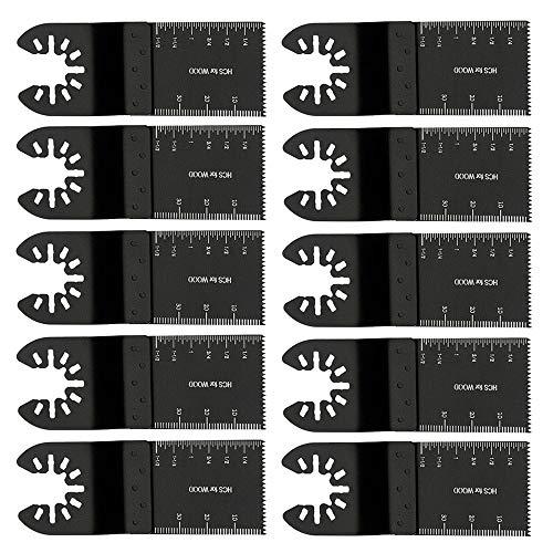 Oszillierende Sägeblatt 10 tlg Sägeblätter Set Sägeblätter Kit Oszillierwerkzeu Universelles Multitool für Bosch, Fein Multimaster, Multitalent, Decker Rockwell, Handwerker und mehr