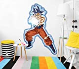 Vinilo de Pared Tamaño Real Dragon Ball Super Goku Ultra Instinto Onda Vital Producto Oficial | 84x130 cm |Vinilo para Paredes | Producto Original | Vinilo Adhesivo | Mural | Decoración Hogar | DBS