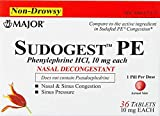 SudoGest PE Nasal Decongestant Tablets, 10mg, 36ct by MAJPCS