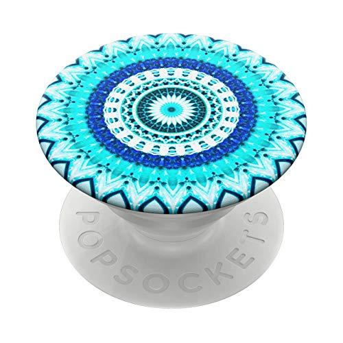 PopSockets PopGrip - Soporte y Agarre para Teléfonos Móviles y Tabletas con un Top Intercambiable - Blue Floral Metala