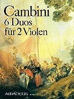 CAMBINI G. - Duos Concertantes (6) para 2 Violas (Pauler)