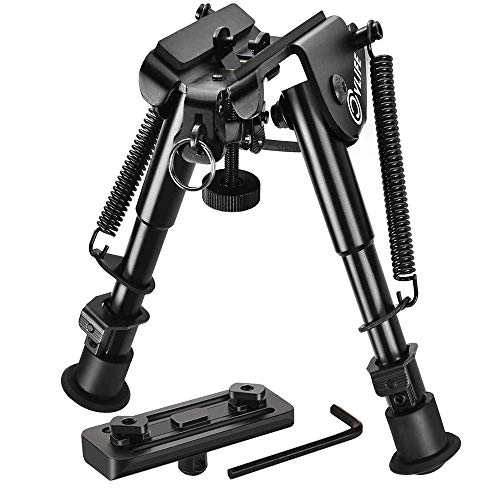 Lowest Price! CVLIFE 6-9 Inches Rifle Bipod for M-lok Rail Mlok Bipod with Mlok Mount Adapter