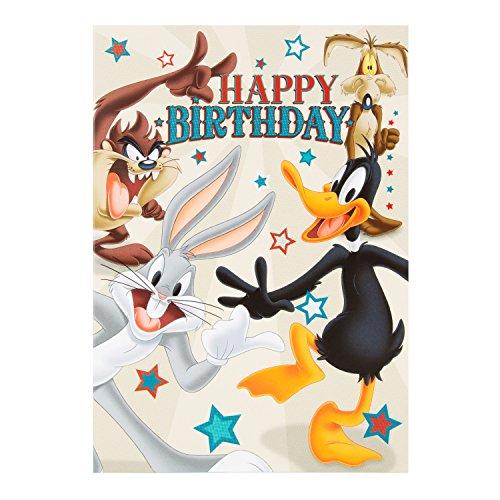 Hallmark Looney Tunes Birthday Card 'Enjoy' - Mediu