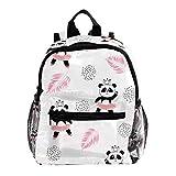 Rucksack für Mädchen Kinder Schultasche Kinder Büchertasche Frauen Casual Daypack Süße Orangen Zitronen und Blätter Süße Pandabär-Ballerinas 25.4x10x30 CM/10x4x12 in