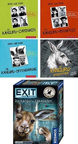 Marc-Uwe Kling - 4 Känguru Hörbücher Chroniken/Manifest/Offenbarung/Apokryphen + Exit Spiel Känguru - Eskapaden im Set - Deutsche Originalware [18 CDs]